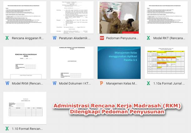 Administrasi Rencana Kerja Madrasah (RKM) dan Pedoman Penyusunan
