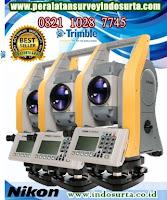 Jual Total station Nikon Trimble® C3 Laser 800 m dan 1 prisma 5,000 m