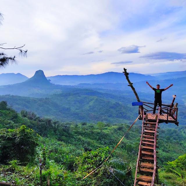Lokasi Jajar Gunung Kinayungan Bogor