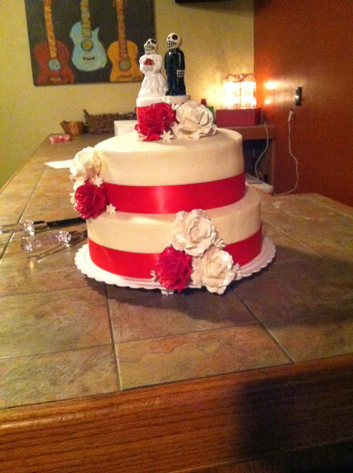 wedding cakes in red ribbon cakes by the sugar cains ribbon wedding cake 24756