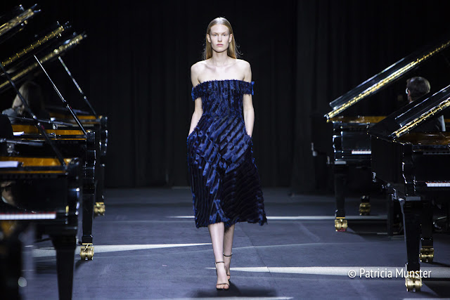 Night blue dress by David Laport - my favourite look of his SS2019 collection