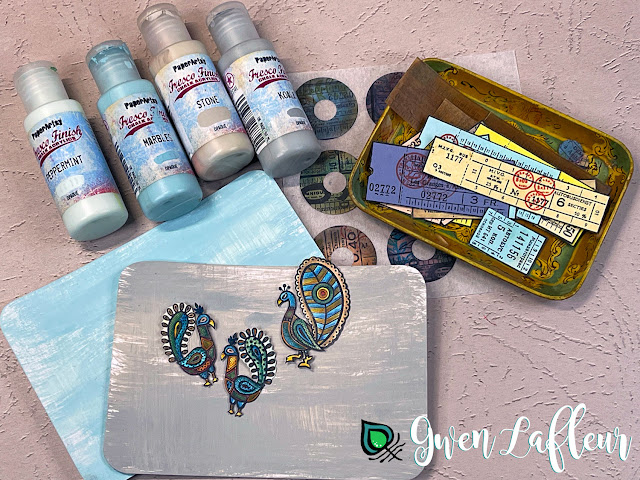 Gwen Lafleur May 2021 PaperArtsy Stamp Release - Project Tutorial Step 1