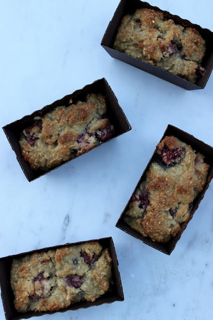 raspberry and coconut mini loaf cakes