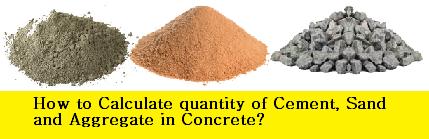How to Calculate Quantity of Materials For Concrete Mix Ratio
