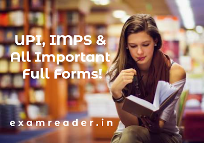 Girl Reading Book for NPCI, IMPS, UPI and all important full form in hindi