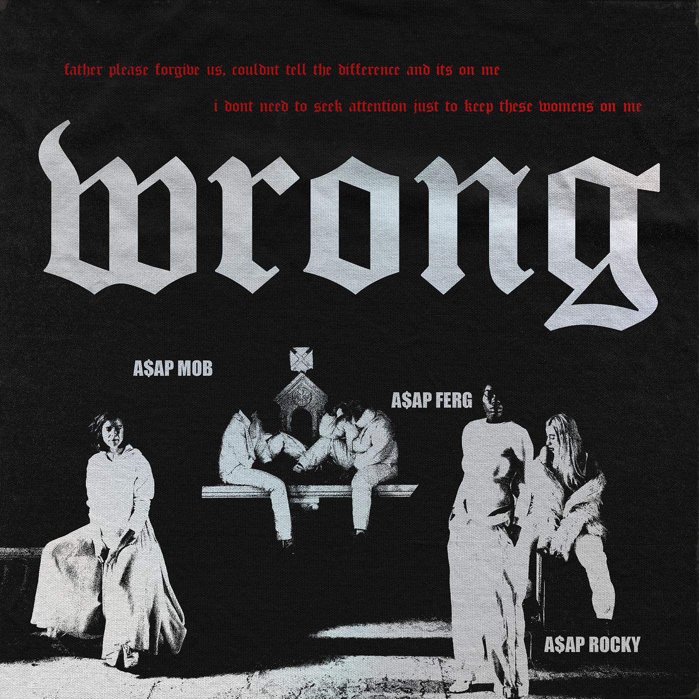 A$AP Mob - Wrong (feat. A$AP Rocky & A$AP Ferg) - Single Cover