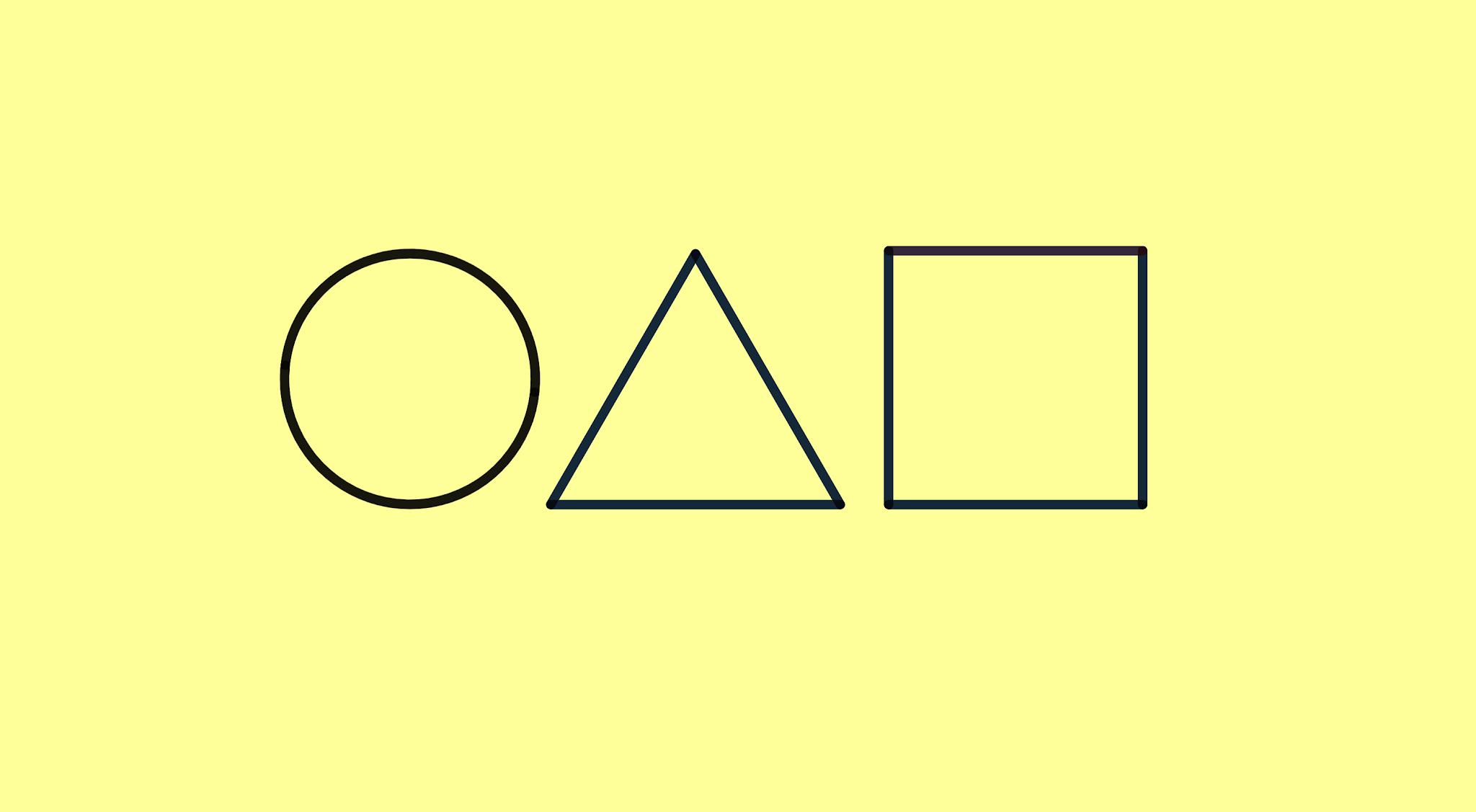 Round 6 - símbolo círculo, triângulo e quadrado