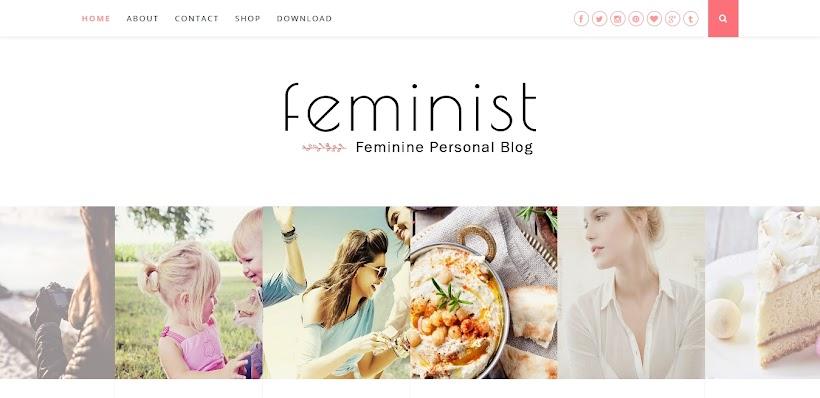 Feminist Free Blogger Template