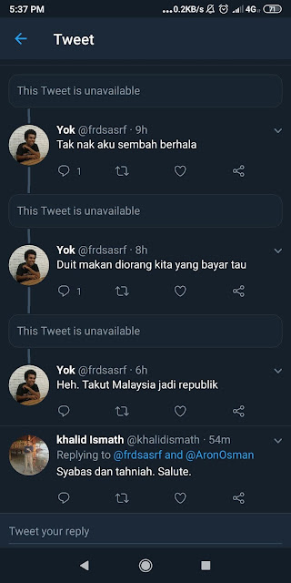 Raja Permaisuri Agong tutup akaun Twitter