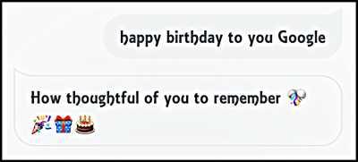 Happy Birthday To You Google
