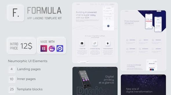 Software & App Landing Elementor Template Kit