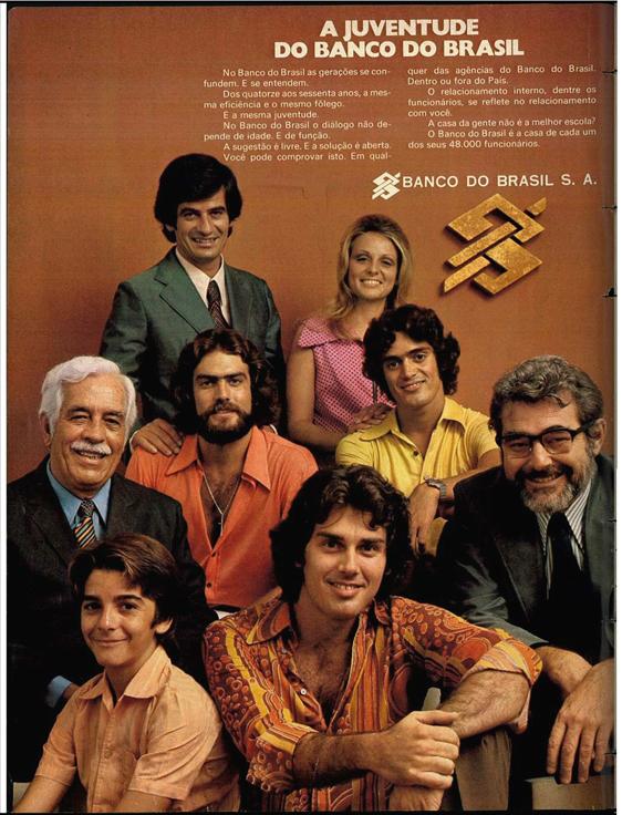 Propaganda antiga do Banco do Brasil veiculada em 1974