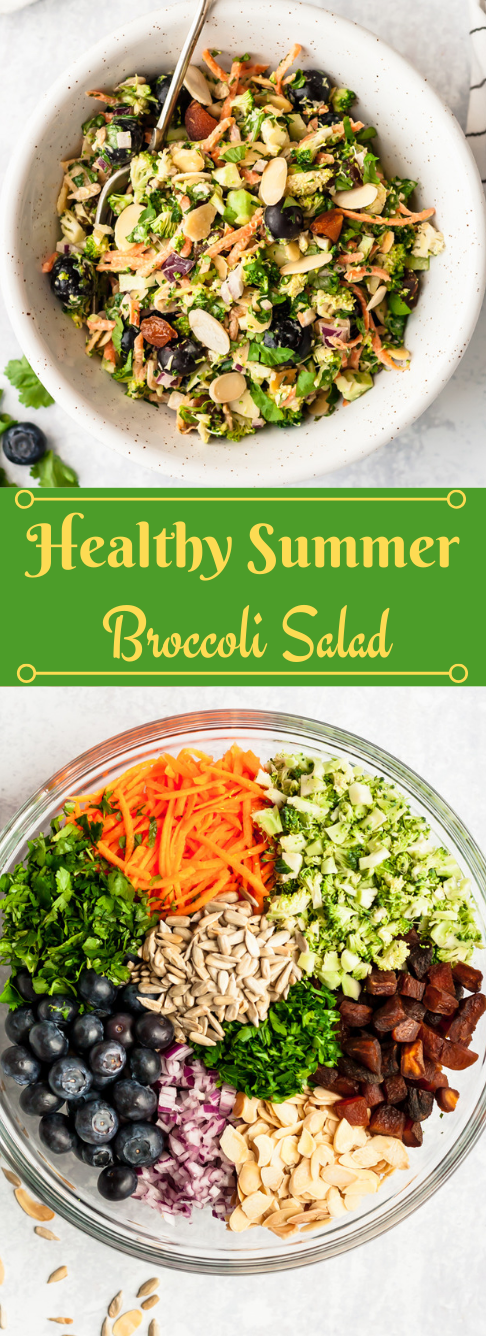 Healthy Summer Broccoli Salad #summer #healthy #broccoli #salad #easy