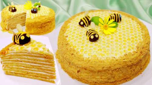украшение торта медовик