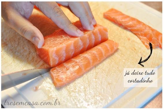 receita de sashimi de salmão com passo a passo