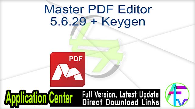 Master PDF Editor 5.6.29 + Keygen