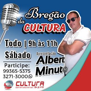 Com o programa Bregão da Cultura todos os sábados Albert Minuto vem conquistando públicos e se destacando no rádio paraibano.