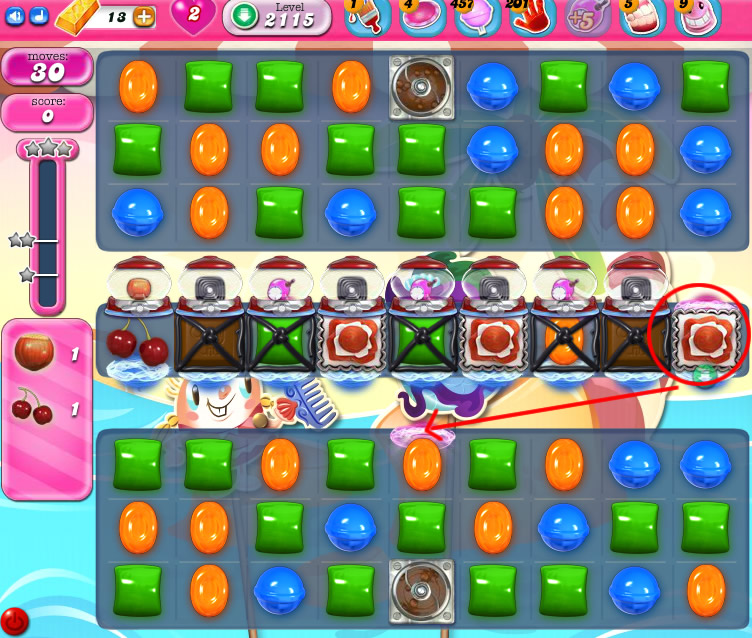 Candy Crush Saga level 2115
