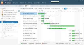 左圖:TP辦公通專案管理模組;右圖:TP辦公通文檔管理模組。