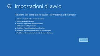 Modalità provvisoria Windows 10 - Tipi di opzioni di avvio