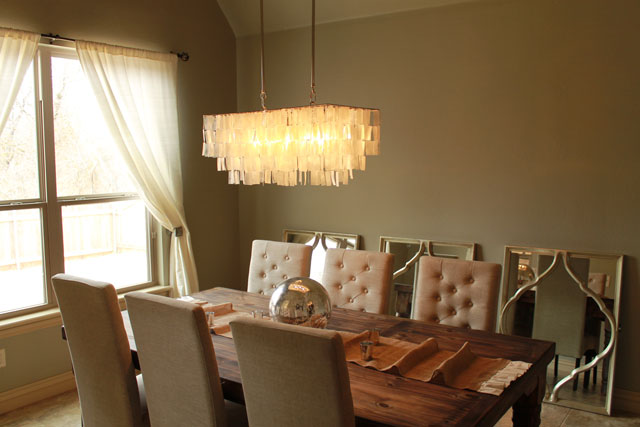 Rustic Furniture The Peak Of Très Chic: Rustic Glam Dining Room Update