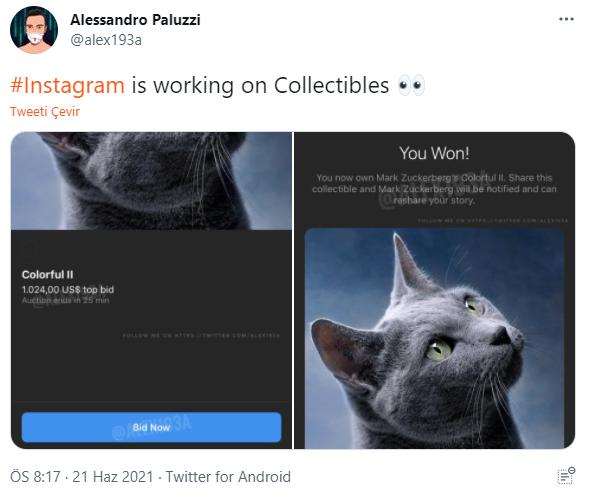 Alessandro Paluzzi Instagram NFT