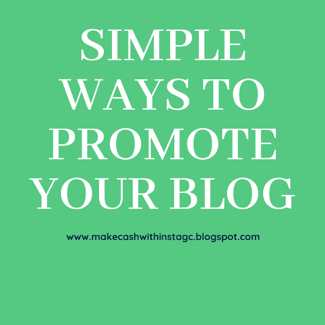 Simple ways to promote your Blog