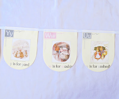 beatrix potter bunting peter rabbit alphabet abc domum vindemia nursery baby shower homewares