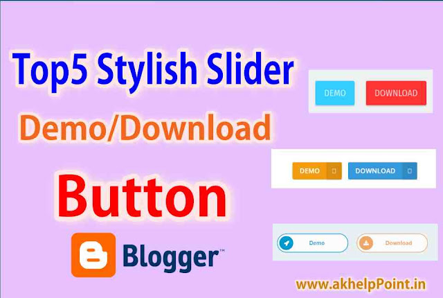 5 Best Stylish Sliders Demo and Download Button