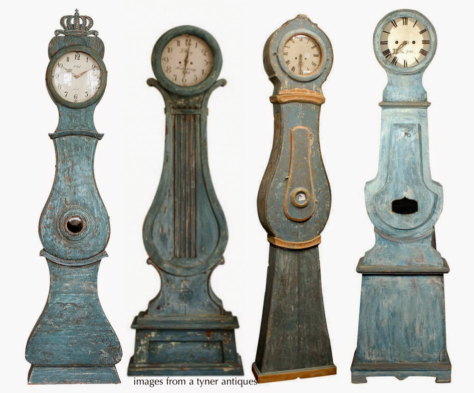 Blue Antique Swedish Mora Clocks