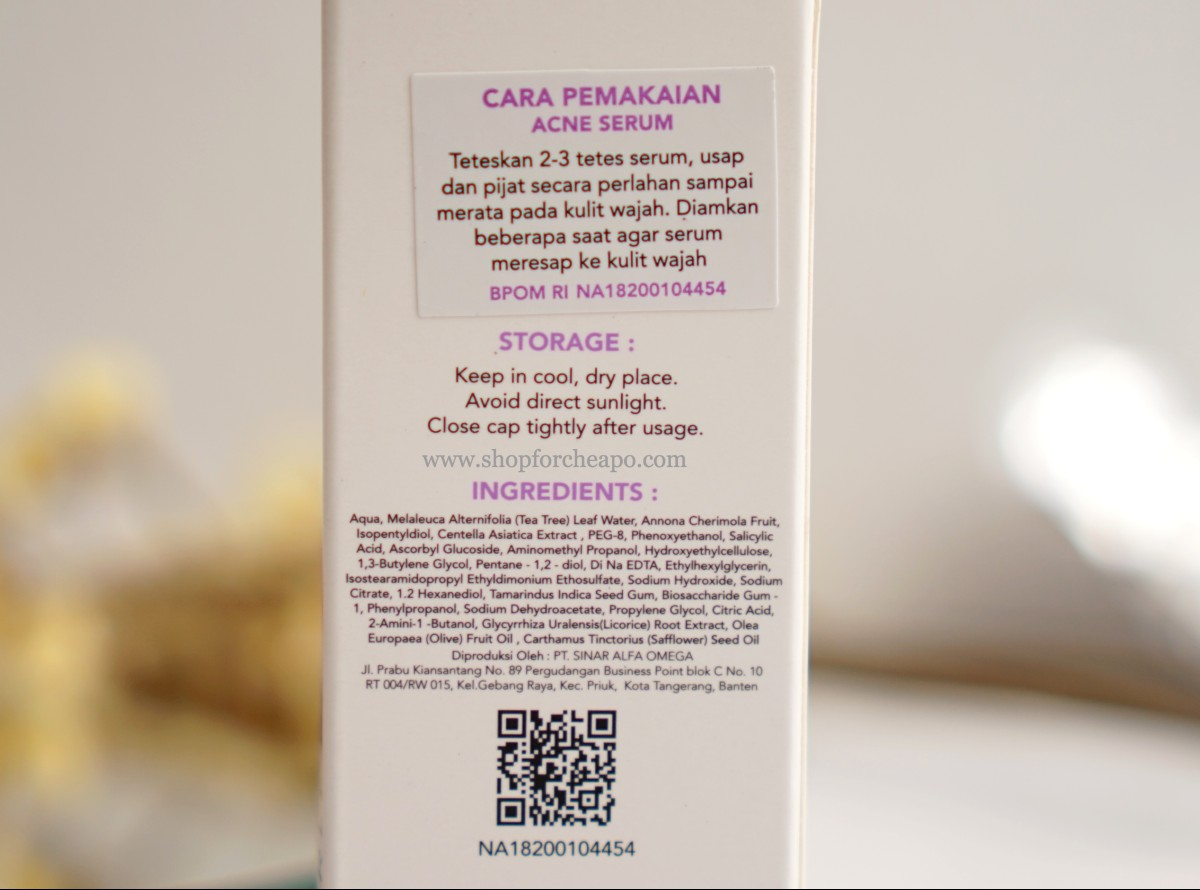 komposisi lengkap acne serum