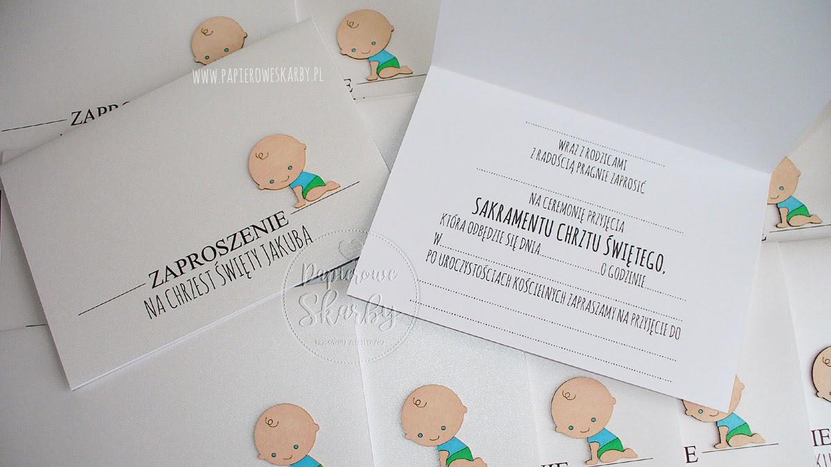 scrapbooking handmade zaproszenia zaproszenie dla dziecka na chrzest święty z okazji chrztu roczek dla chłopczyka dla dziewczynki bobas bobasek
