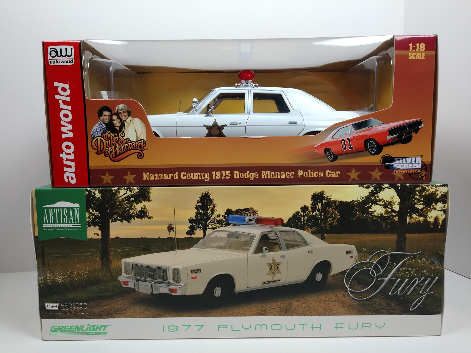 1:64 GreenLight DUKES OF HAZZARD Roscoe P Coltrane MONACO Sheriff Patrol Car
