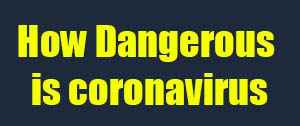 How Dangerous is coronavirus