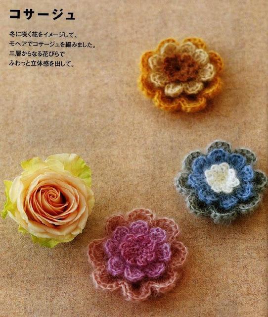 Patrón #1710: Flores a Crochet