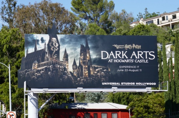 Dark Arts Hogwarts Castle Universal Studios Hollywood billboard