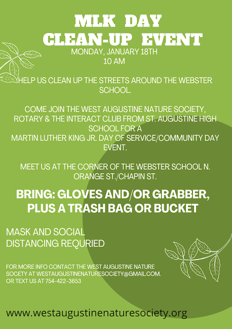 MLK Clean-Up Event Flyer from West Augustine Nature Society
