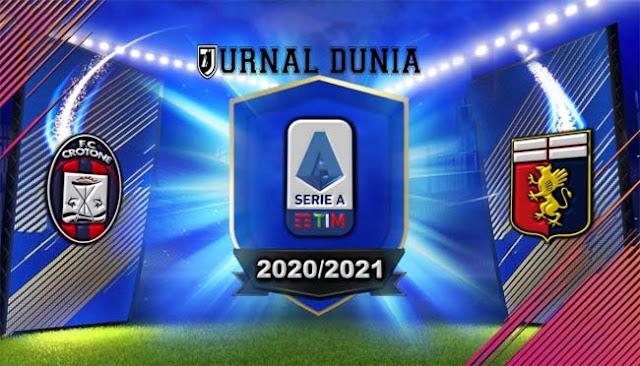 Prediksi Crotone vs Genoa , Minggu 31 Januari 2021 Pukul 21.00 WIB