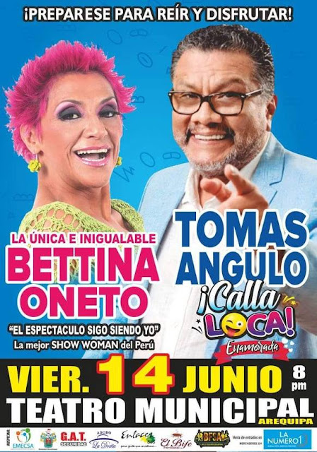 Tomás Angulo y Bettina Oneto en Arequipa
