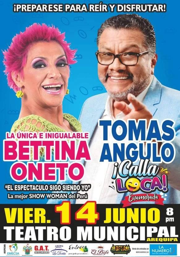 Tomás Angulo y Bettina Oneto en Arequipa - 14 de junio
