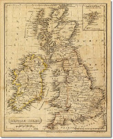 antique english map
