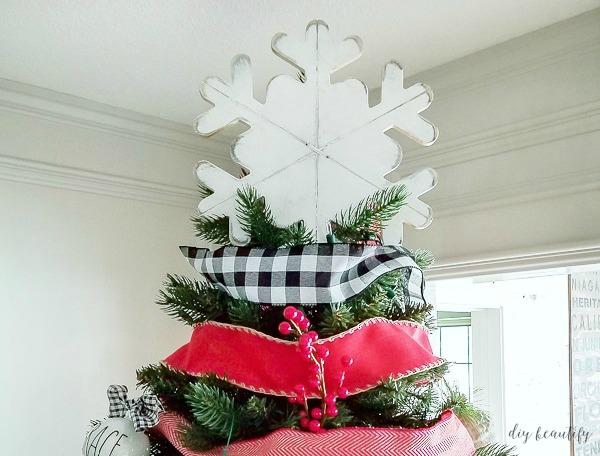 snowflake tree topper for 3 bucks