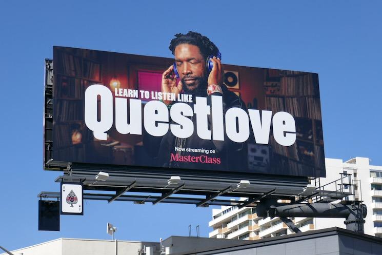 Questlove MasterClass billboard