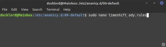 تطبيقات Ananicy Control تنشئ قاعدة مخصصة