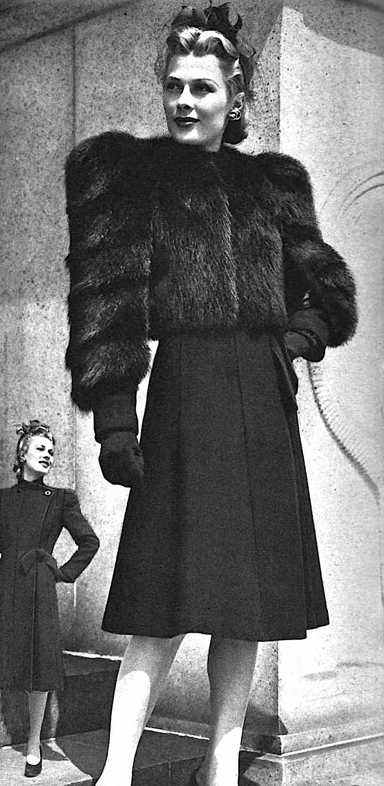 1941 hubba hubba hey toots, a fashion model in furs