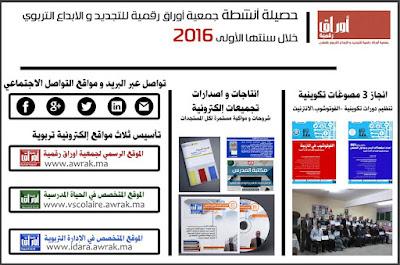 جمعية أوراق رقمية، تقيم حصيلة عامها الأول 2016 بوجدة