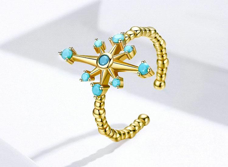 波斯星空 925純銀開口式戒指