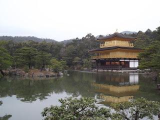 Golden Pavilion on the pond, Kinkaku-ji Garden - Kyoto, Japan