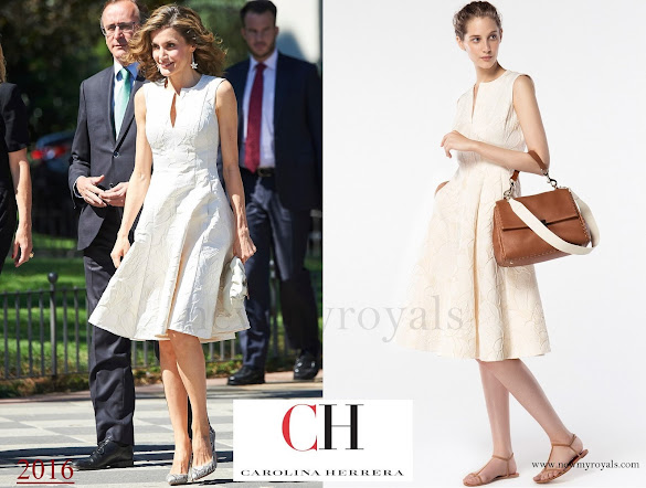 Queen Letizia wore Carolina Herrera  Dress -Spring 2016 Ready-to-Wear Collection