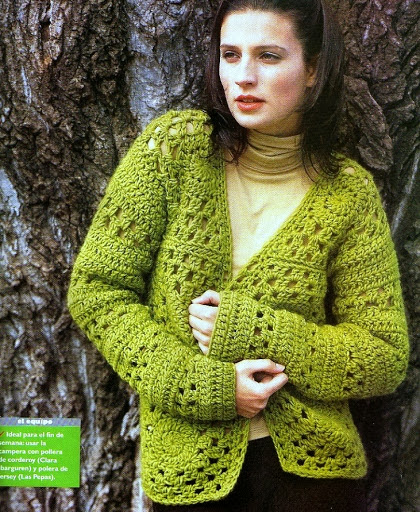 Chaqueta Campera de Crochet Instrucciones